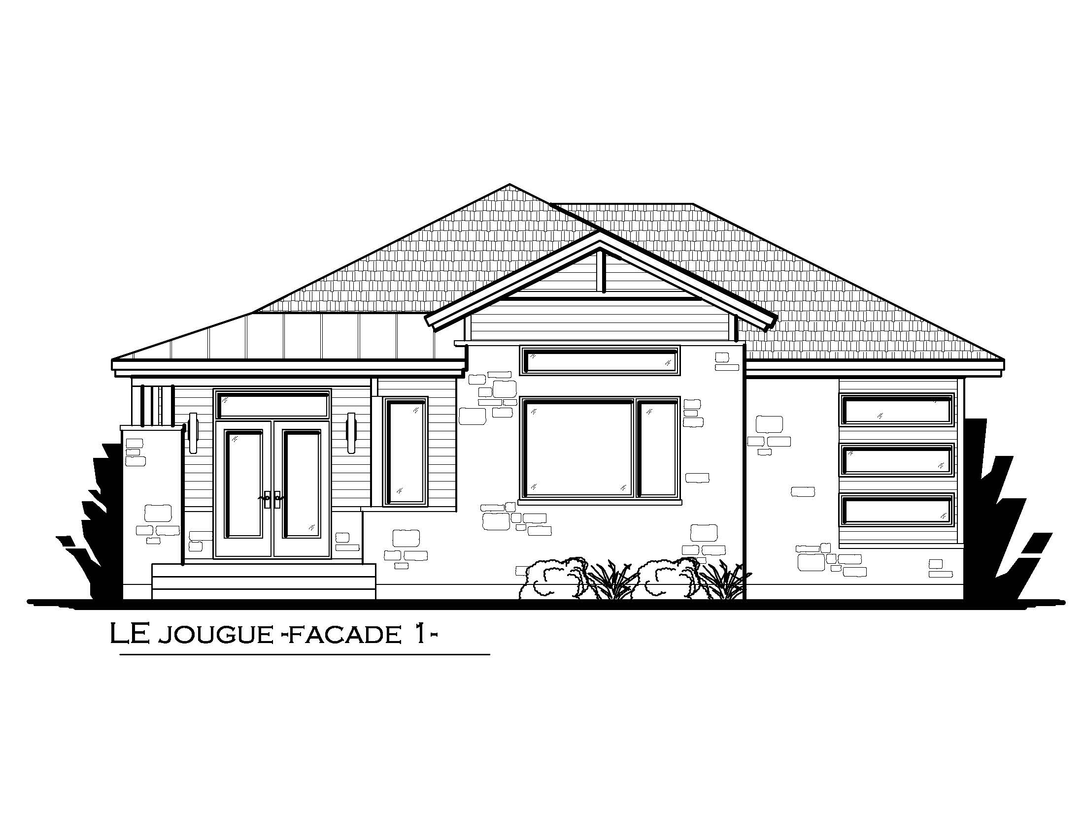 Facade option 1 Le Jougue