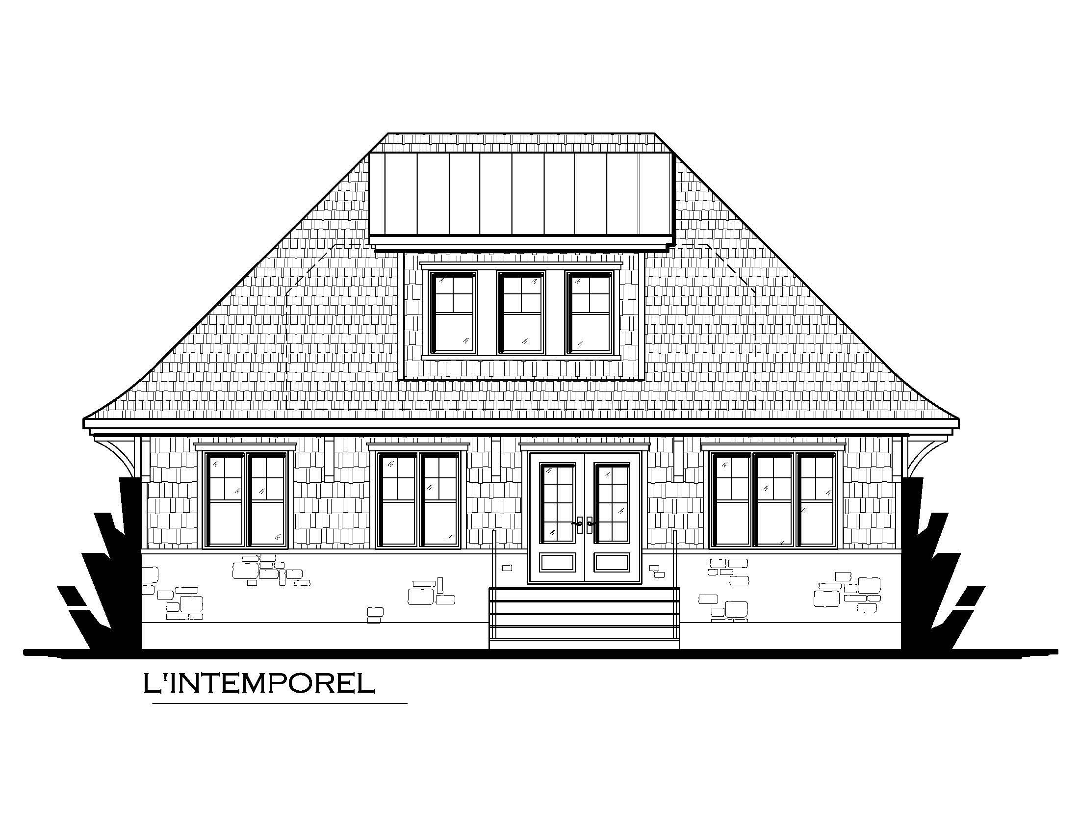 L 39 intemporel dessin design architecture for Dessin architecture maison